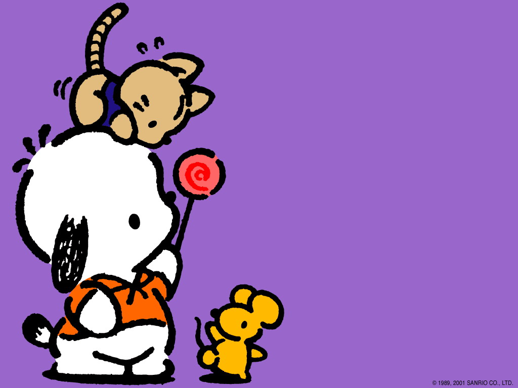 pochacco sanrio wallpaper 56133 fanpop