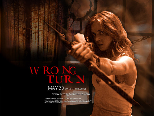 Horror films achtergrond entitled Wrong Turn