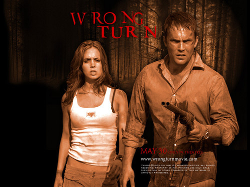 Horror فلمیں پیپر وال entitled Wrong Turn