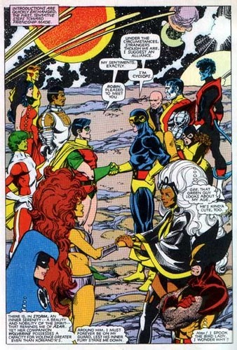 X-Men met Teen Titans