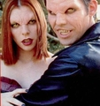Xander & Willow as Vampiri#From Dracula to Buffy... and all creatures of the night in between.