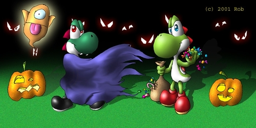 Nintendo wallpaper entitled Yoshi's Halloween
