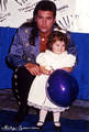 Young Miley and Billy ray