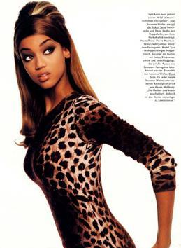 tyra banks wallpaper titled Young Tyra