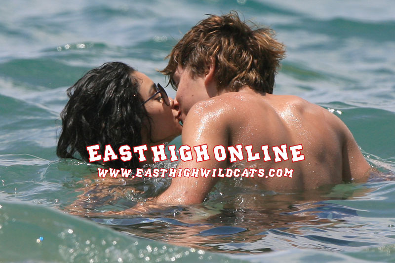 Zac all over Vanessa!