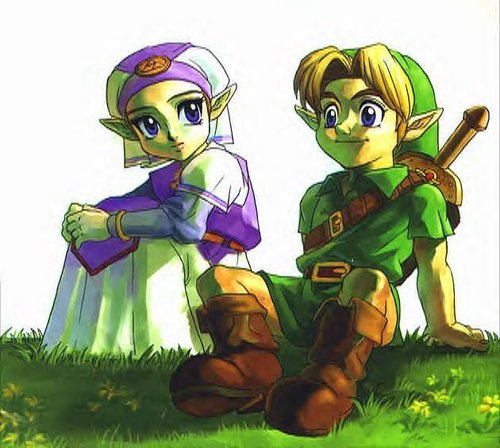 Zelda and Link Ocarina of Time