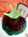 Zombie Hand - cupcakes photo