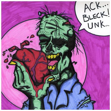 Zombie an artist entupritation