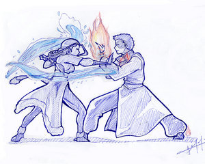 Zutara bending battle