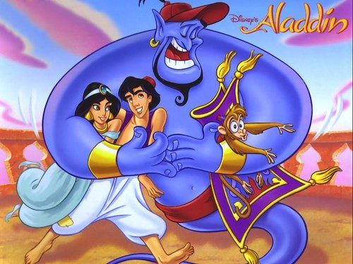 Aladdin wallpaper entitled aladdin & friends
