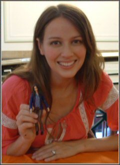 amy acker holding Fred figure