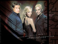 angel buffy & spike(triangle) - bangel-vs-spuffy wallpaper