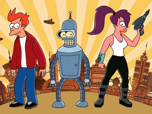 bender, fry and leela - futurama Photo