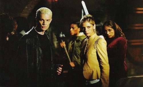 Buffy The Vampire Slayer kertas dinding entitled buffy & spike(season7-chosen)