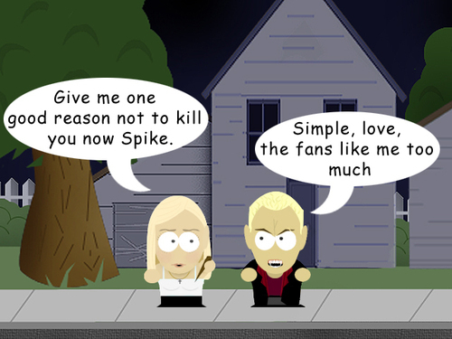 buffy and spike cartoon