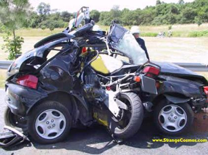 Motorcycle Car Crash