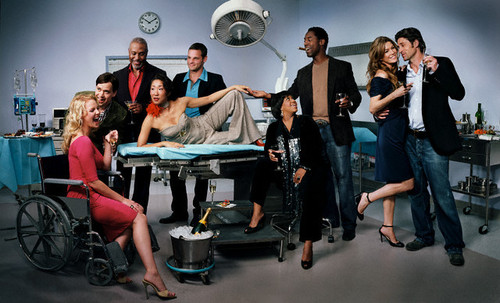 Grey's Anatomy fond d'écran titled cast