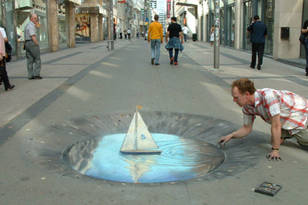 chalk illusion