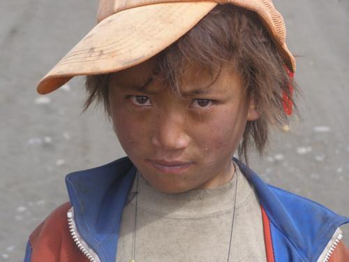 child in Tibet