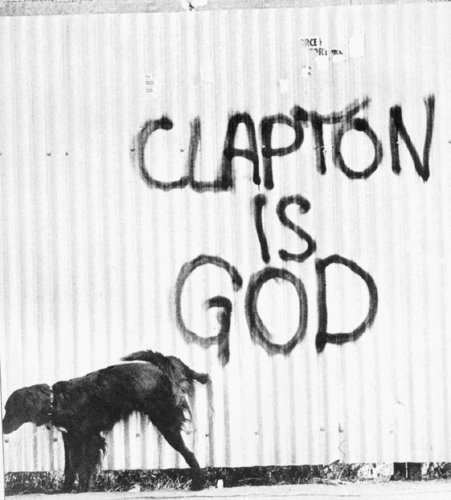 clapton is god - rock-n-roll Fan Art