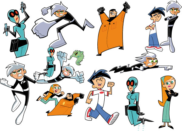 Cartoon Characters Named Jack : Danny phantom and family photo