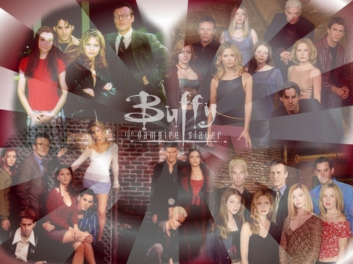 Buffy – Im Bann der Dämonen Hintergrund called entire buffy cast