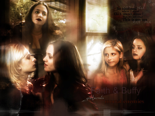 buffy, a caça-vampiros wallpaper titled faith buffy
