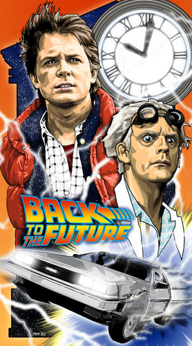 Back to the Future 바탕화면 titled fanmade poster