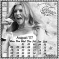 fergie august calendar - fergie fan art
