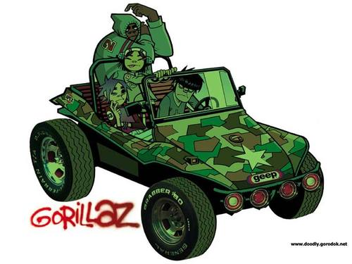 gorillaz jeep