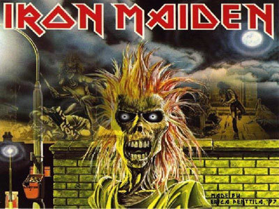 Picks Hintergrund titled iron maiden