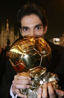 kaka with the golden ball