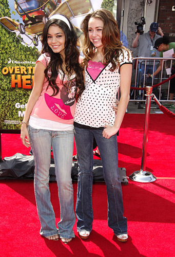 High School Musical wallpaper titled miley cyrus & vanessa hudgens