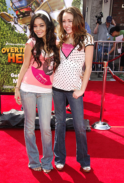 miley cyrus & vanessa hudgens - high-school-musical photo