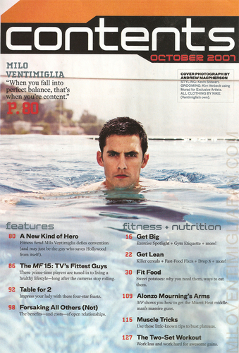 milo on men's fitness magazine