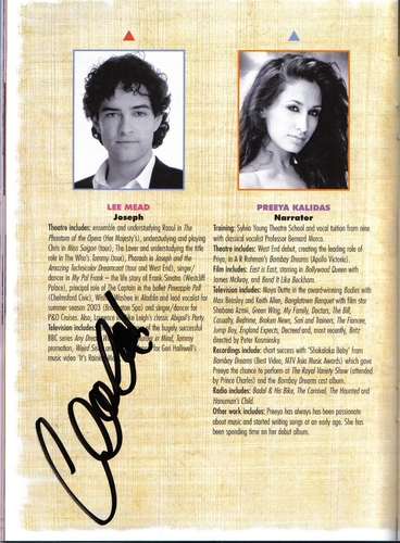 my lee mead autograph