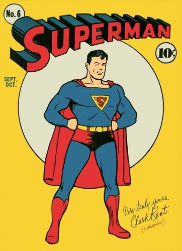 Superman Hintergrund called old Superman comic cover