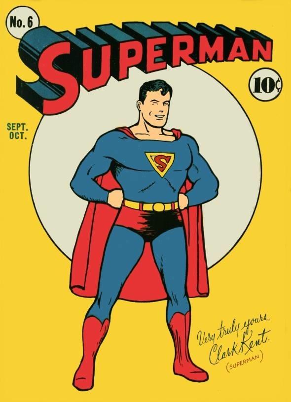 old সুপারম্যান comic cover