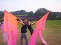 our pink flags and us! - colorguard photo