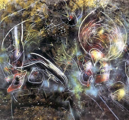Modern Art wallpaper titled roberto matta