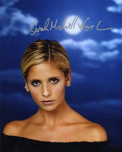 Buffy ang bampira mamamatay-tao wolpeyper titled sarah michele gellar autograph