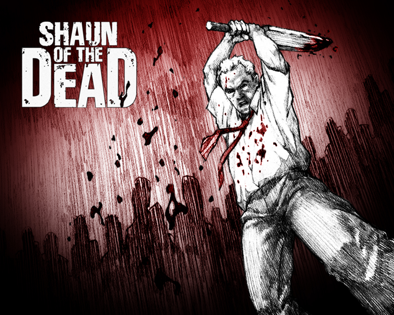 shaun of the cartoon shaun of the dead wallpaper 73378