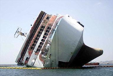 ship fall down