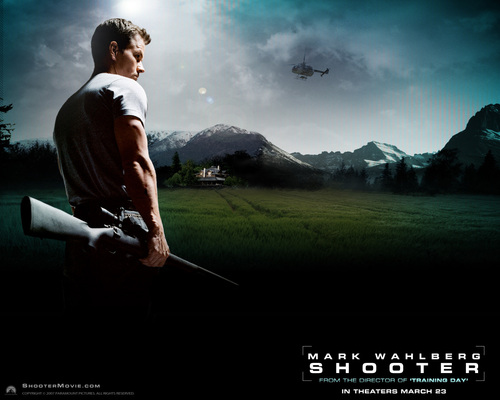 Mark Wahlberg Обои titled shooter