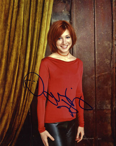 Alyson Hannigan wolpeyper titled signed autograph