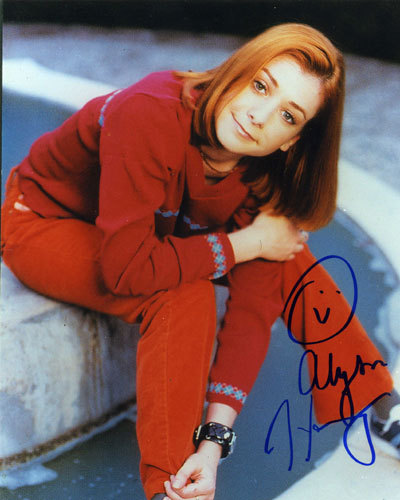 Alyson Hannigan kertas dinding entitled signed autograph