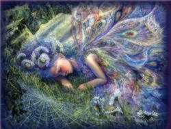 Fairies wallpaper titled sleeping fairy