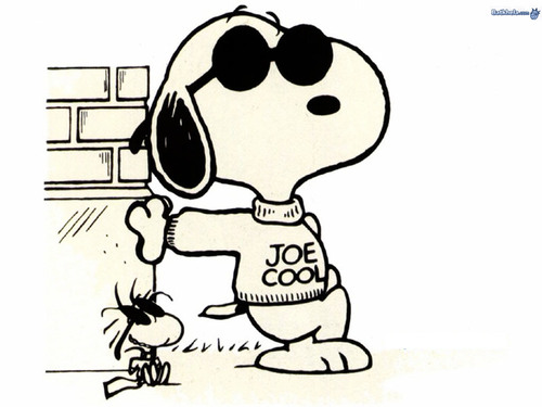 snoopy is joe cool - peanuts Wallpaper