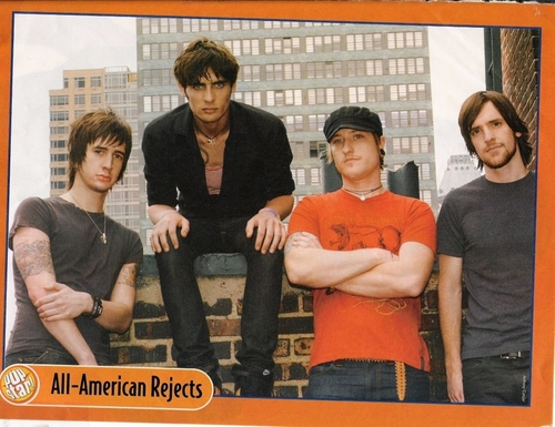 The All-American Rejects پیپر وال entitled the all-american rejects