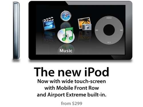 the new ipod的, ipod (touch screen)